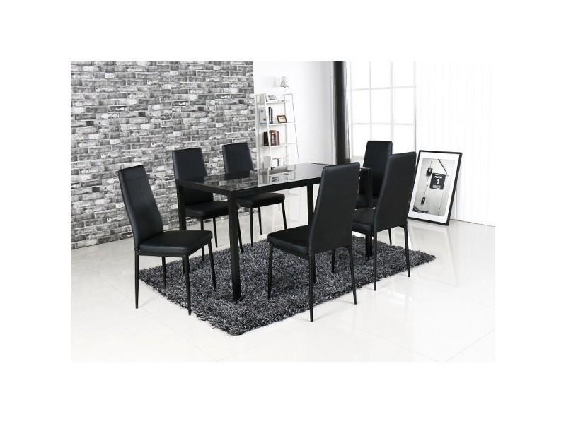 Ensemble 1 Table 6 Chaises Lobos Set Design Et Moderne Pour