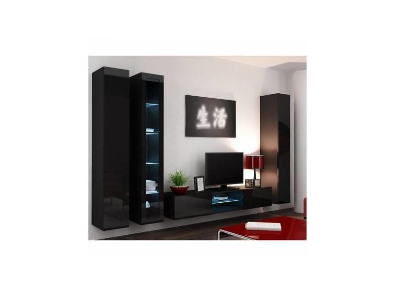 Ensemble meuble tv vision noir ou blanc - couleur: noir