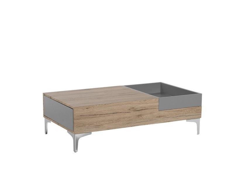 Table basse gris et bois naturel williams 119056