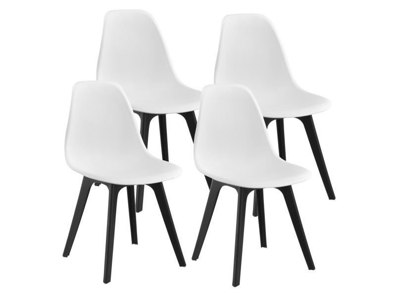 En Casa Set De 4 Chaises Design Chaise De Cuisine Chaise De Salle A