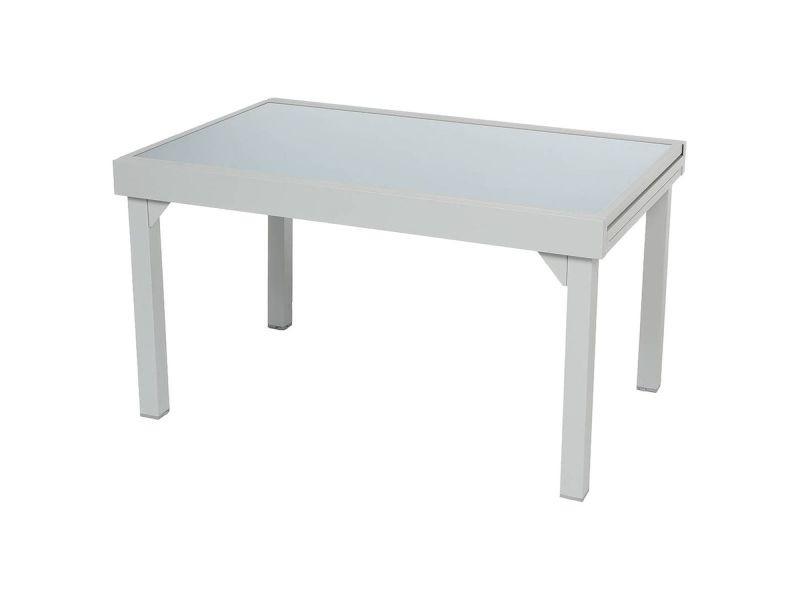 Table de jardin extensible piazza - 10 personnes - gris ...