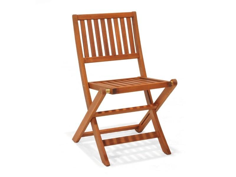 Chaise pliable avec bras en bois d´eucalyptus chillvert 60.00
