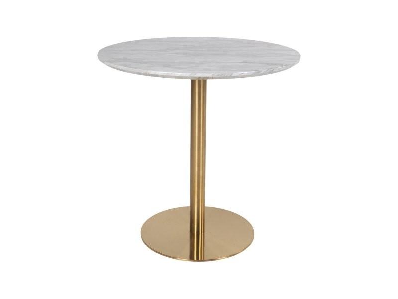 Table ronde 90cm aspect marbre pied doré sienna 2201141
