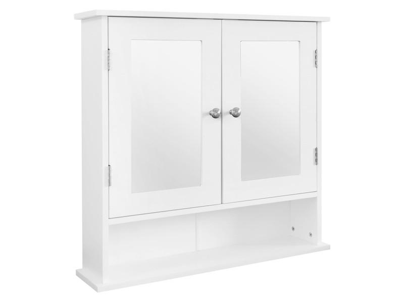 Armoire de toilette ml-design blanche, 56x58x13 cm, en panneau de particules mdf 490001580
