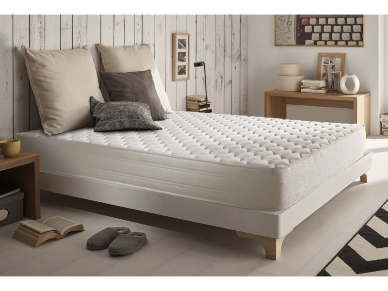 matelas à mémoire ergo+ 80x190 cm mousse hr blue latex® - à 7 zones