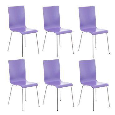 en 6 de et métal de Lot chaises cds10268 bois cuisine violet Nvm8y0Onw