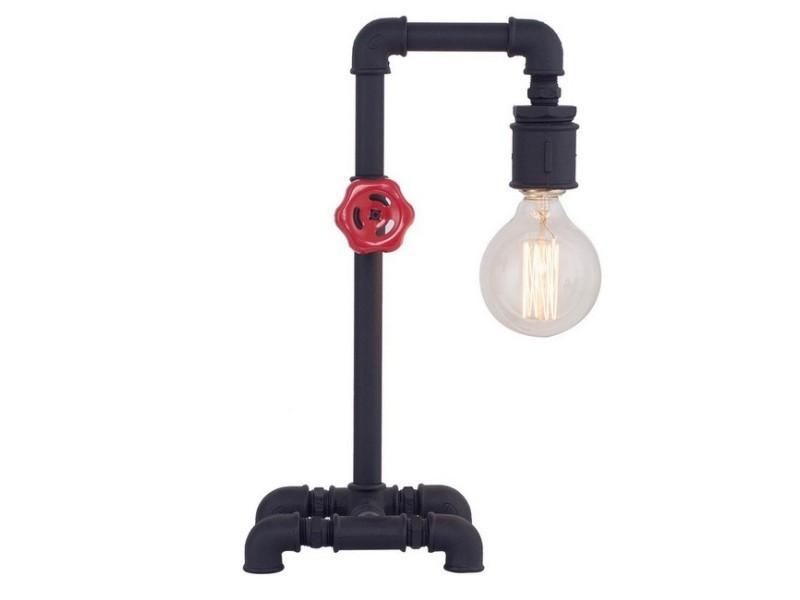 Lampe De Chevet Metal Noir En Métal Pour Bureau Chambre