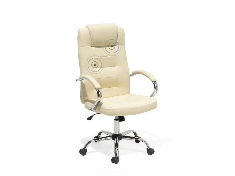 cuir bureau de en beige fonction Chaise et massage 9YIDWEH2