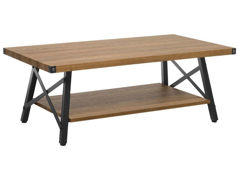 Table basse bois foncé carlin 180123