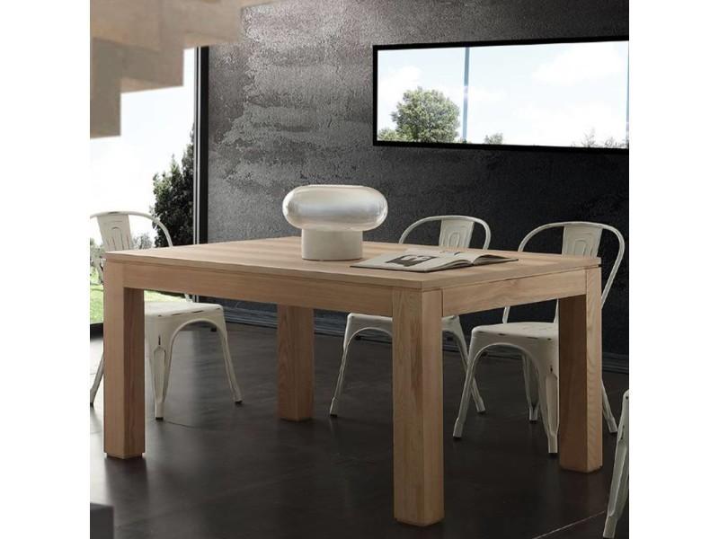 Table repas extensible contemporaneo en bois massif naturel 20100870101