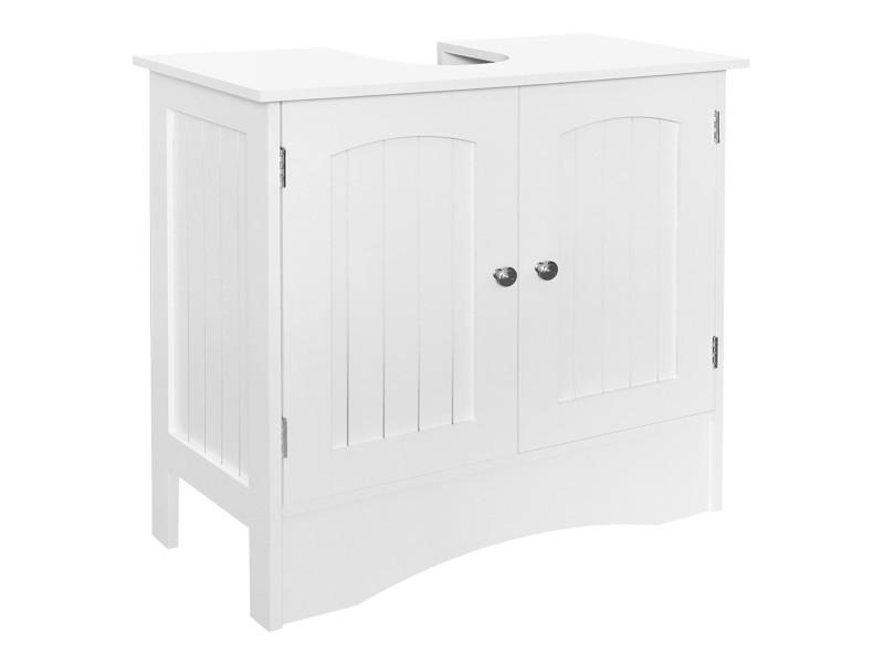 Ml-design meuble bas de lavabo blanc, 60x30x60 cm, en panneau de particules mdf 490001572