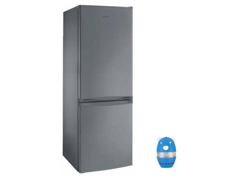 Réfrigérateur frigo combiné inox 194l a++ froid statique clayette verre
