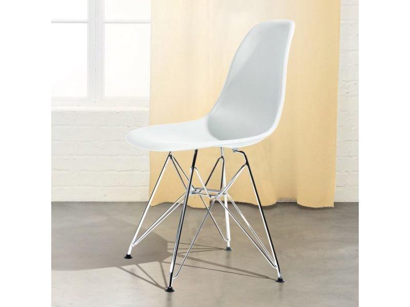 1× confort chaise au design scandinave la mode salle à