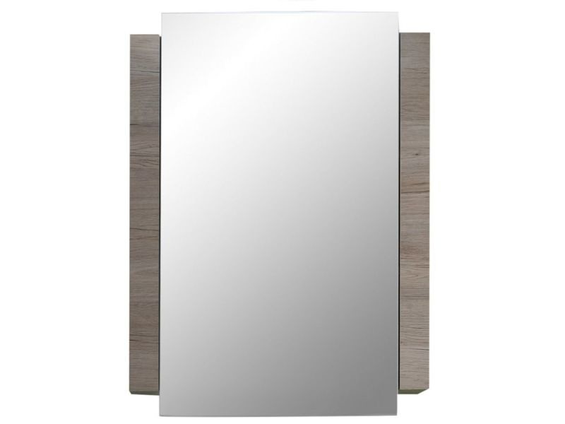 Agreable Armoire Murale 80 Cm Avec Miroir à 1 Porte Coloris Chêne San Remo  P 30988 Co C Dobson