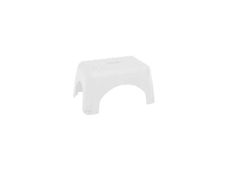 Marchepied - 45 x 31.5 x 23 cm - polypropylène - blanc