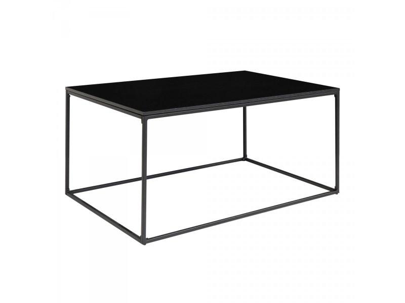 Table basse 90x60 cm en bois et métal nino `