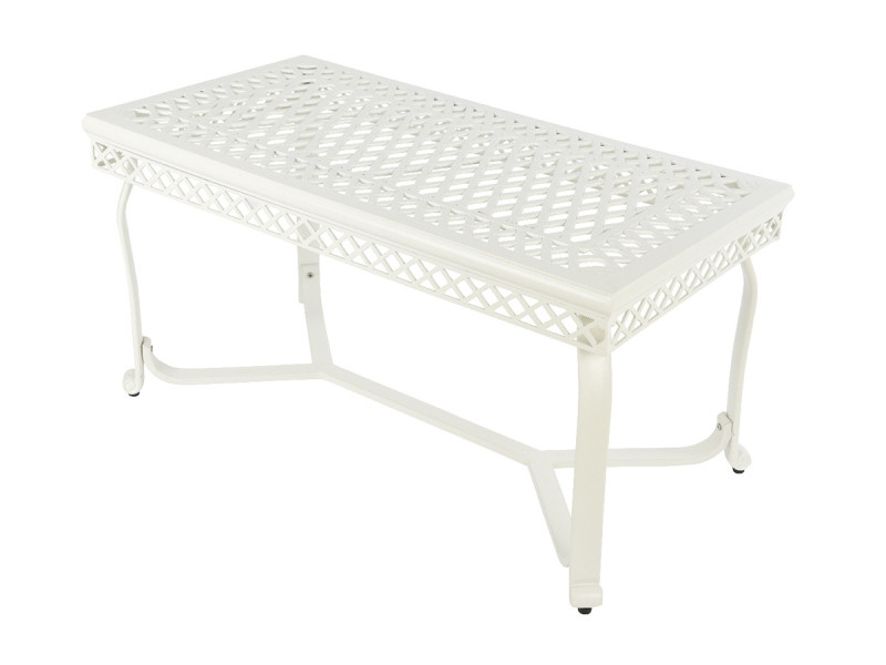 Table basse de jardin saint-tropez blanc cassé - jardideco - Vente ...