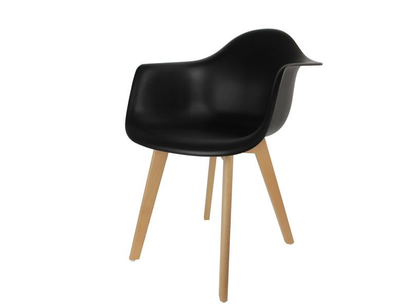 taille 40 ca03a 0237f Fauteuil scandinave noir - Vente de CMP - Conforama