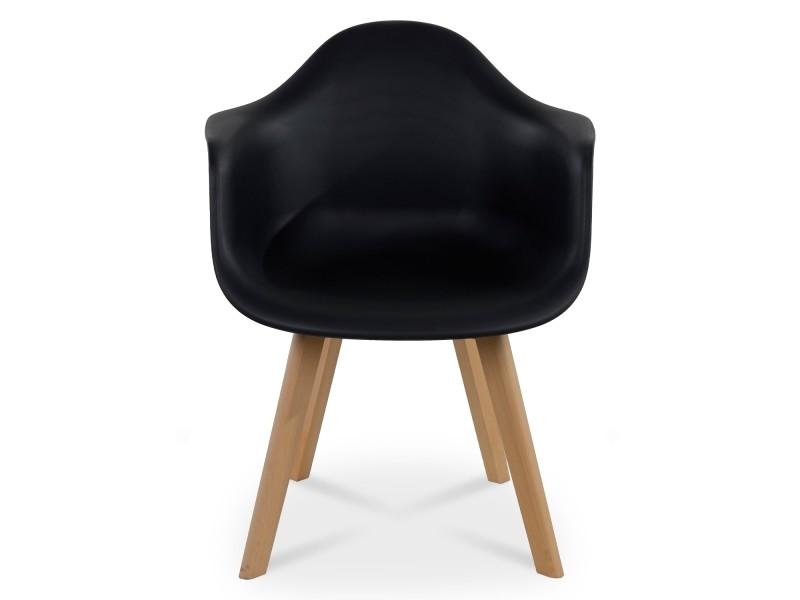 Lot de 4 chaises de style scandinave Lena Noir