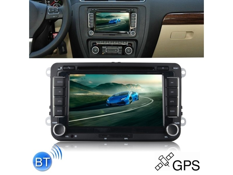 7 Pouces Double Din Voiture Dvd Gps Navigator Radio 1080p Hd