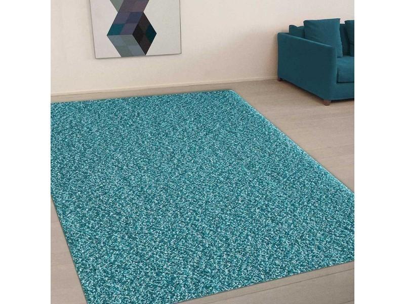 Tapis grand dimensions shaggy simple bleu 80 x 150 cm tapis ...
