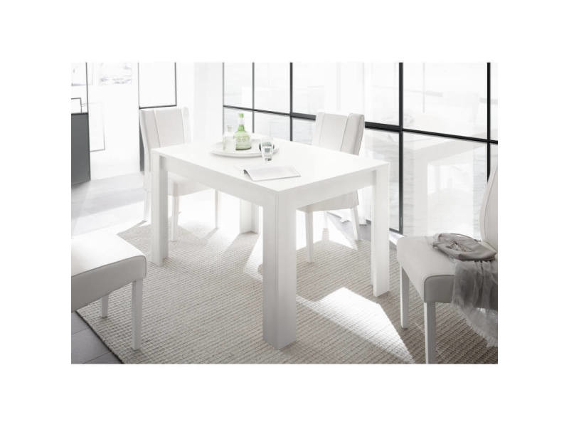Table De Salle A Manger Contemporaine Charlie Coloris Blanc Vente De Deladeco Conforama