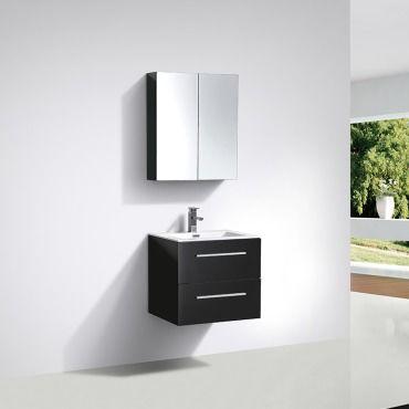 Meuble salle de bain design simple vasque siena largeur 60 - Meuble vasque salle de bain conforama ...