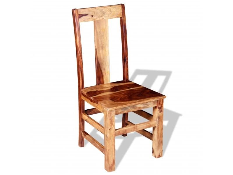 Vidaxl chaise de salle à manger 2 pcs bois massif de sesham