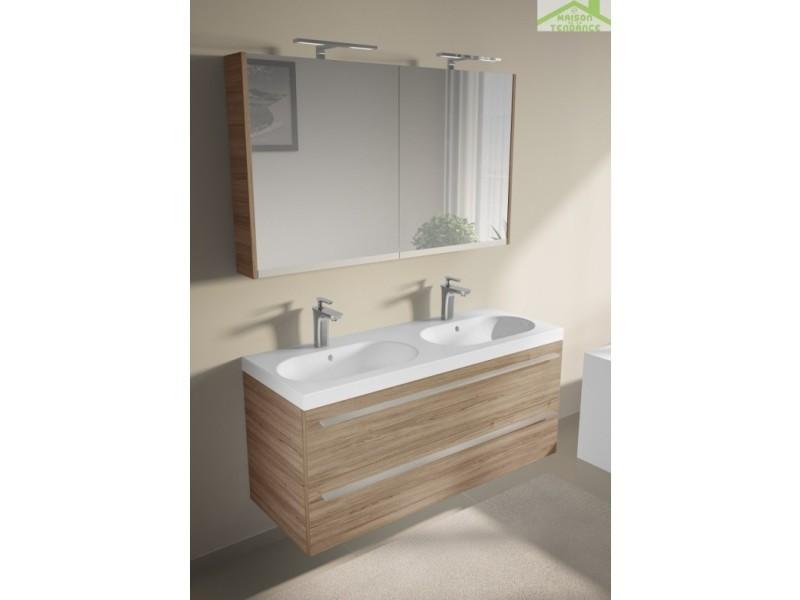 Ensemble meuble & lavabo riho belluno set 25 120x45x h 60 cm - bois laqué brillant FBU120*GLOSSGLOSS*S25