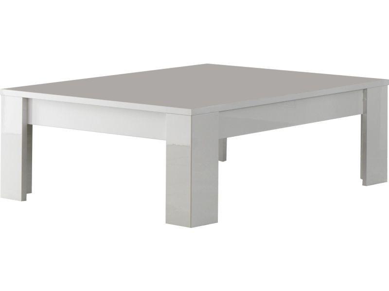 Table Basse Carrée Coloris Blanc Laqué Brillant P 16585 Co