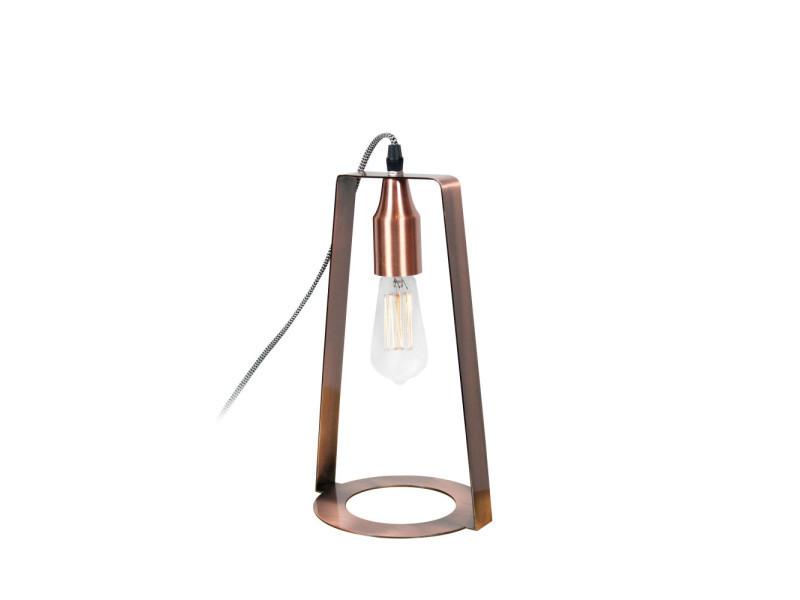 Lampe Métal Rcl1700 Design En Cuivre Edward Couleur À Poser reWCBxod