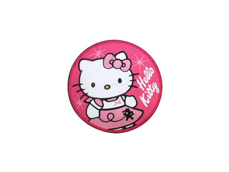 Charmant Tapis Rond Hello Kitty