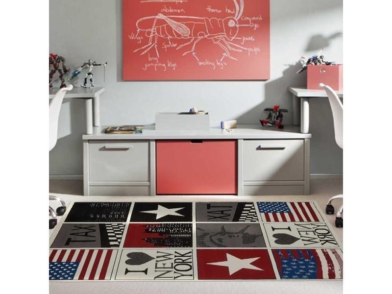Tapis chambre bc new york usa rouge 60 x 110 cm fabriqué en ...