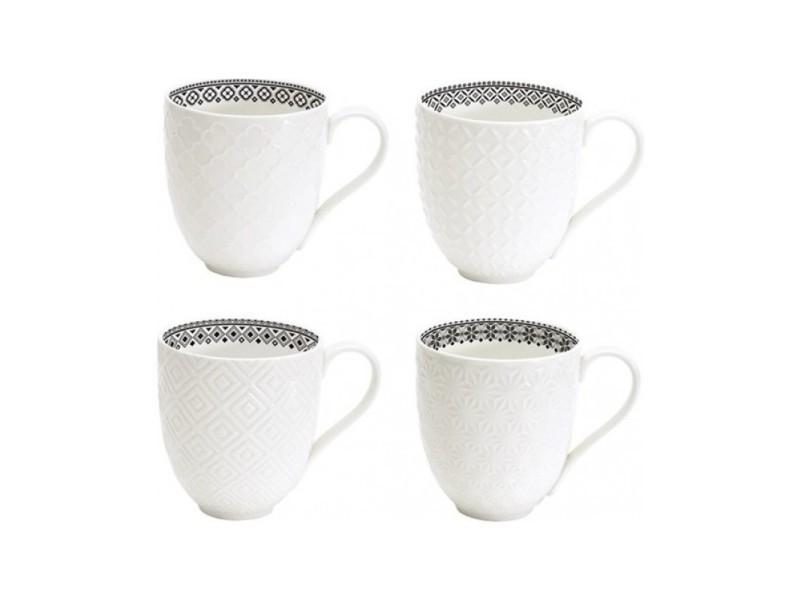 Conforama 4 Blanc Wadiga De Porcelaine Vente En Set Mugs shCtQrdx