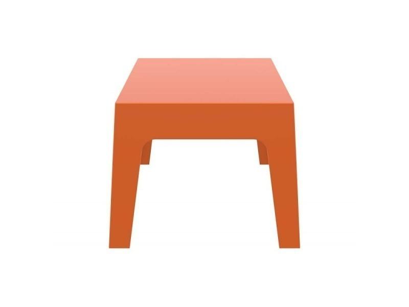 Table basse de jardin en plastique orange 50x70x43 cm ...