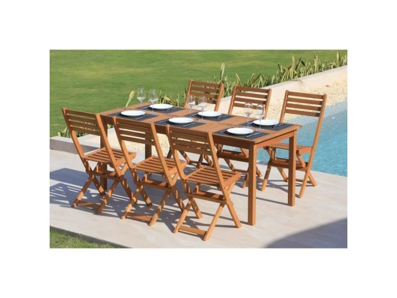 Salon de jardin - ensemble table chaise fauteuil de jardin costa ...
