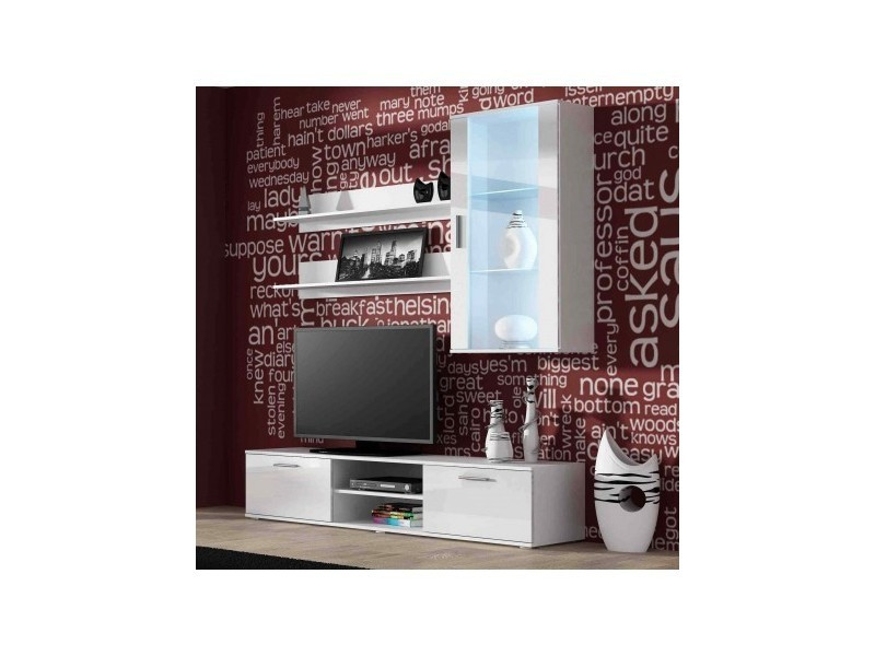 Ensemble meuble tv soho 2 blanc