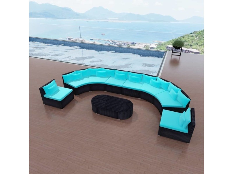 Meubles de jardin gamme new delhi mobilier de jardin bleu ...