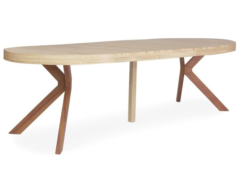 Table Ronde Extensible Myriade Sonoma Vente De Menzzo Conforama
