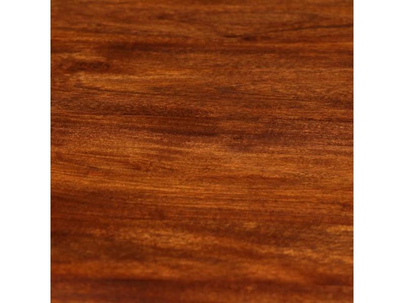 Icaverne - tables de salle à manger et de cuisine famille table de salle à manger bois acacia et finition sesham 80x76 cm