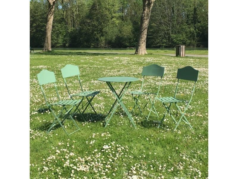 Table 4 De En Fer Chaises Bistrot Pliable Jardin Salon TFKlJc1