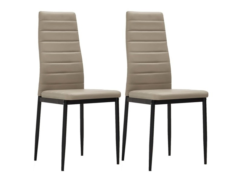 Vidaxl chaises de salle à manger 2 pcs cappuccino similicuir