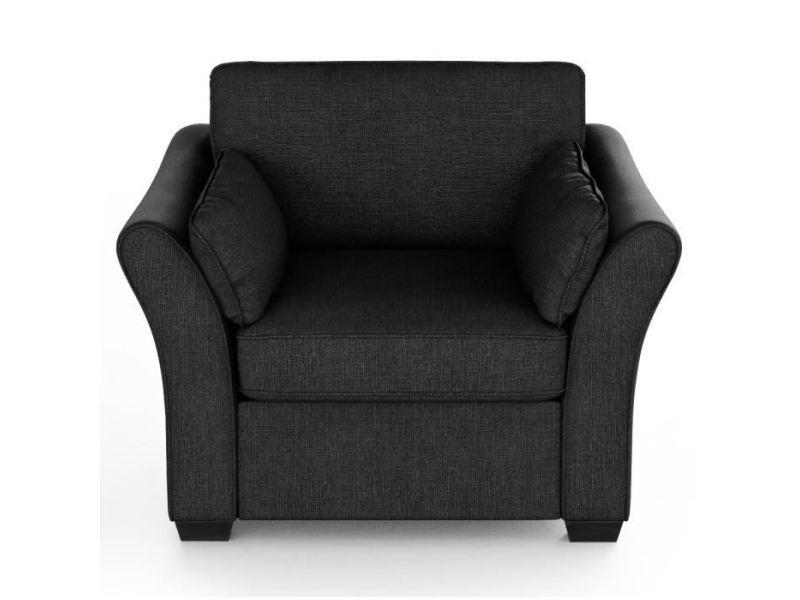 Fauteuil rodier interieurs fauteuil - tissu gris anthracite - classique - l 104 x p 97 cm
