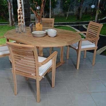 Salon de jardin en teck qualité ecograde marbella, 4/6 places Teck ...