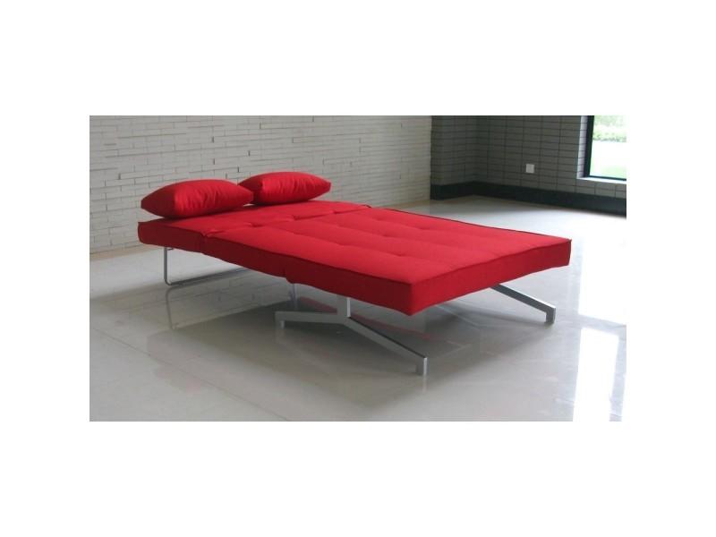 Design Canapé Convertible Bz Rouge Couleur Places 2 Marco PuiZOXk