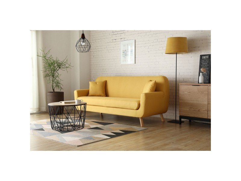 Le Nils Canape Scandinave 3 Places Jaune Moutarde 2