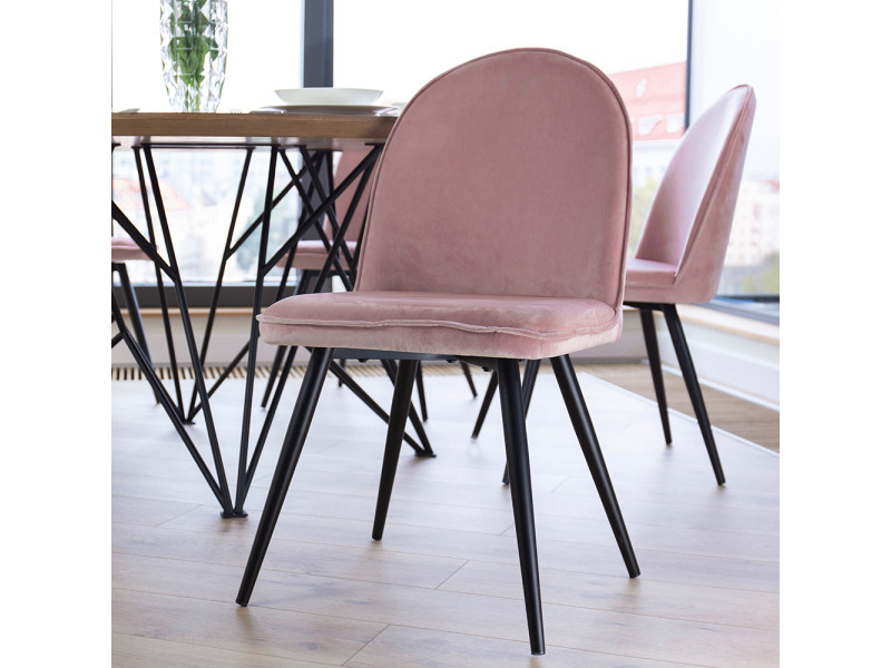 chaise rose salle a manger