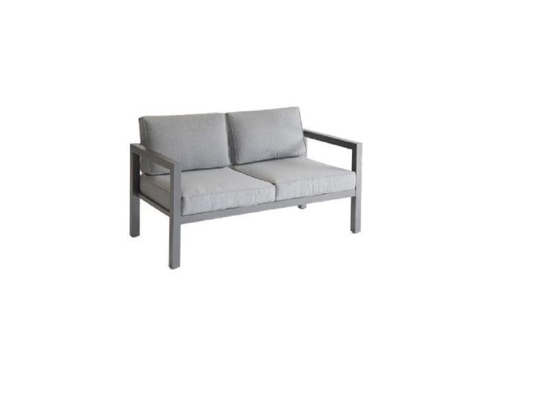 Canapé extérieur graphite 2 places azua hespéride - Vente de ...