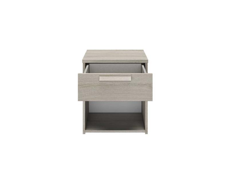de clair 1 1 chêne tiroir gris niche Table ilora chevet htsdQrC