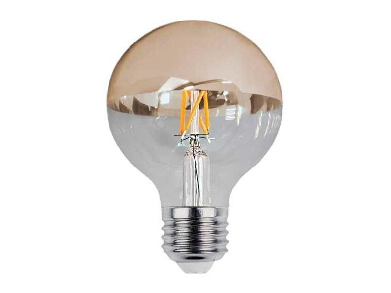 Ampoule e27 led filament 7w g95 reflet or - blanc chaud 2300k - 3500k